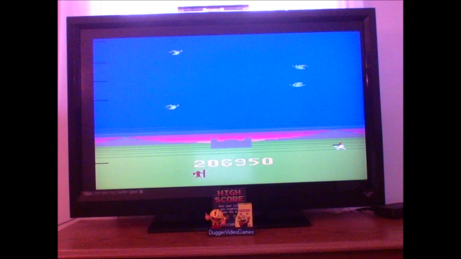 DuggerVideoGames: Sir Lancelot (Atari 2600 Emulated) 206,950 points on 2017-01-17 12:21:31