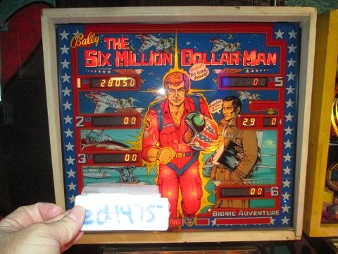 ed1475: Six Million Dollar Man (Pinball: 3 Balls) 28,050 points on 2019-07-14 13:18:04