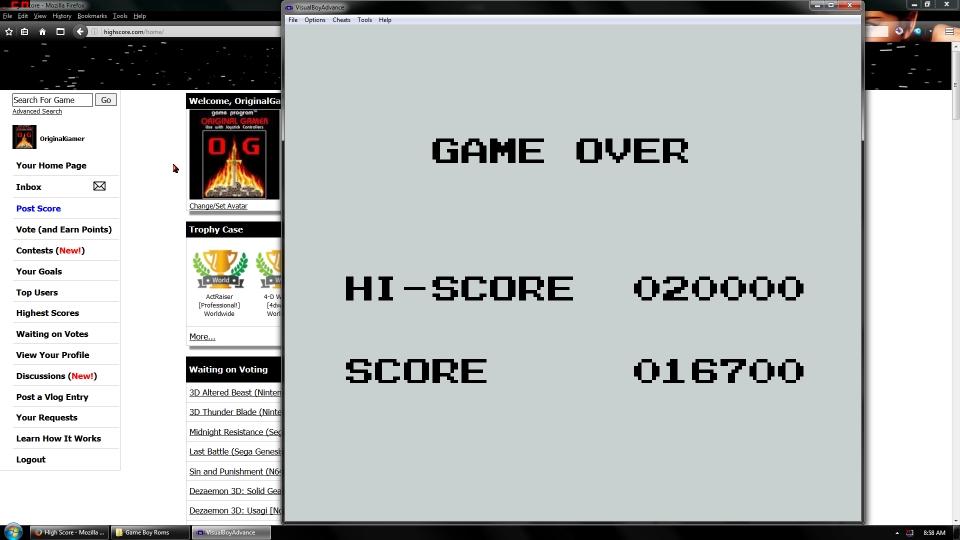OriginalGamer: Skate Or Die: Bad N Rad [Stage 1 Start] (Game Boy Emulated) 16,700 points on 2016-06-30 16:16:31