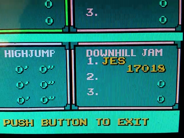 JES: Skate Or Die: Downhill Jam (NES/Famicom Emulated) 17,018 points on 2017-03-04 01:46:50