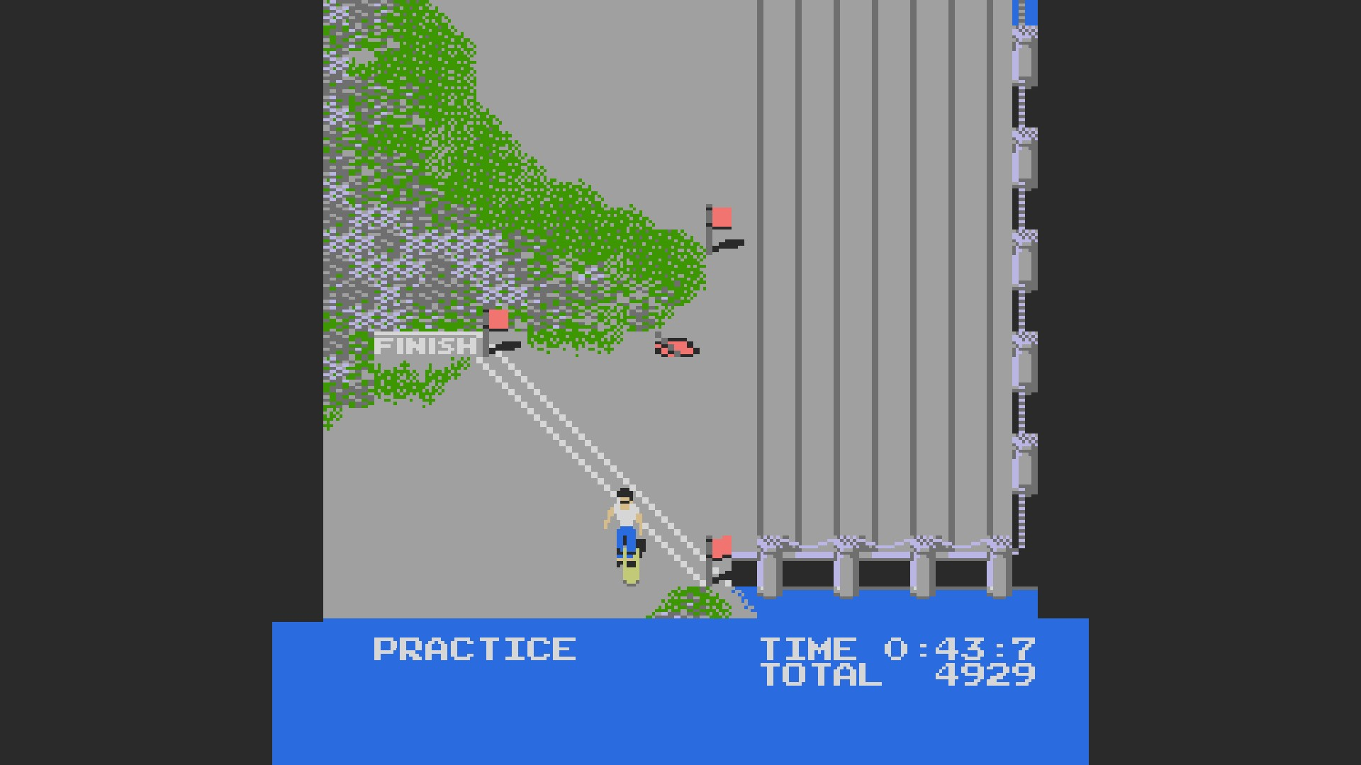 AkinNahtanoj: Skate Or Die: Downhill Race [Time] (NES/Famicom Emulated) 0:00:43.7 points on 2020-10-15 05:45:32