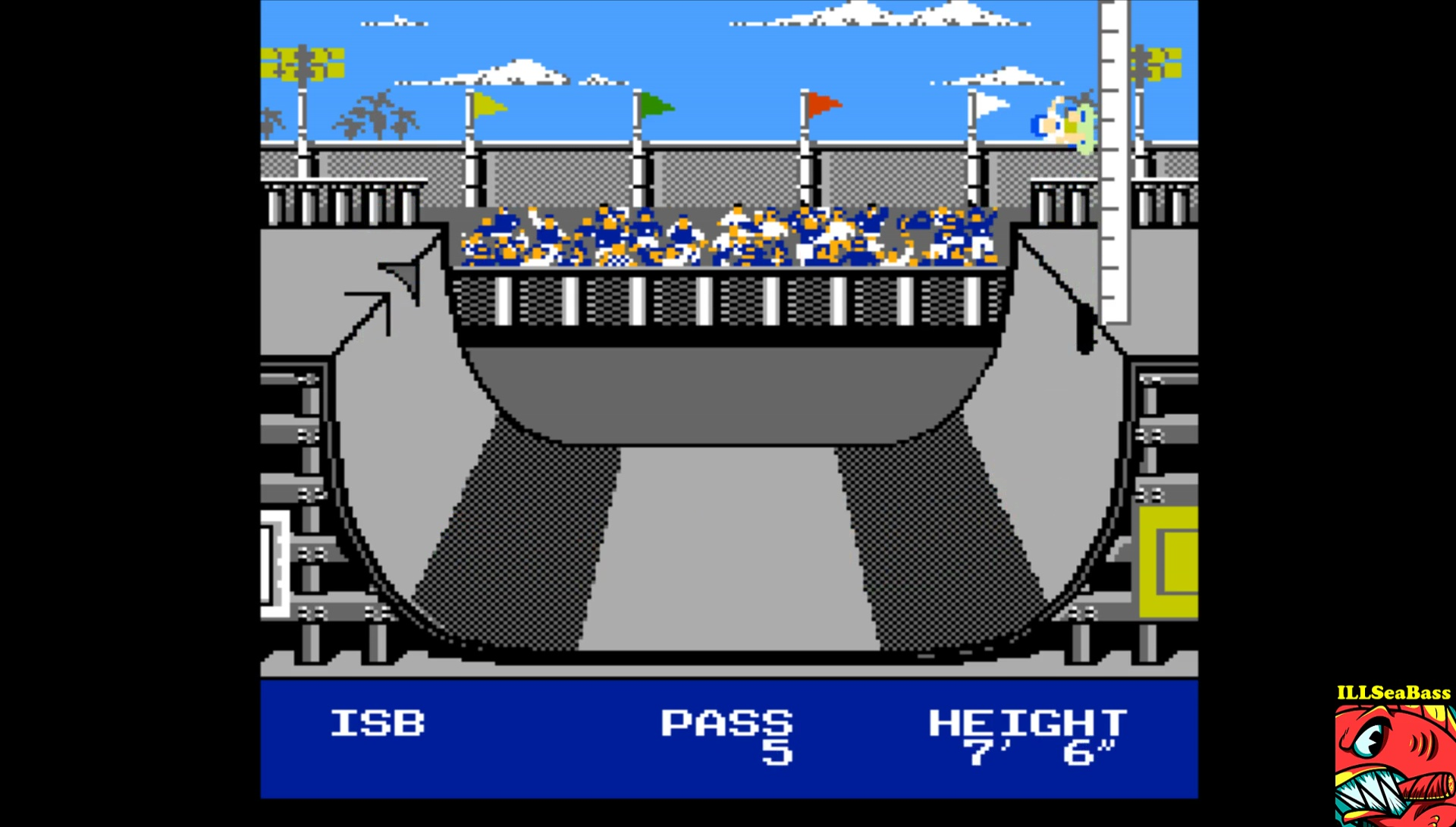 ILLSeaBass: Skate Or Die: Ramp High Jump [Inches] (NES/Famicom Emulated) 90 points on 2017-04-13 00:13:13