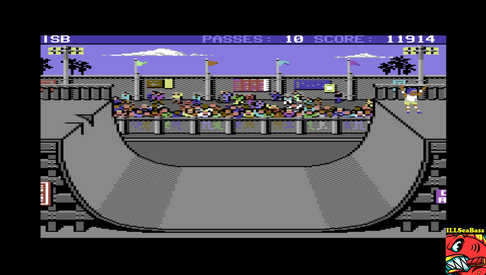 ILLSeaBass: Skate or Die [Ramp Freestyle] (Commodore 64 Emulated) 11,914 points on 2017-04-12 23:06:17