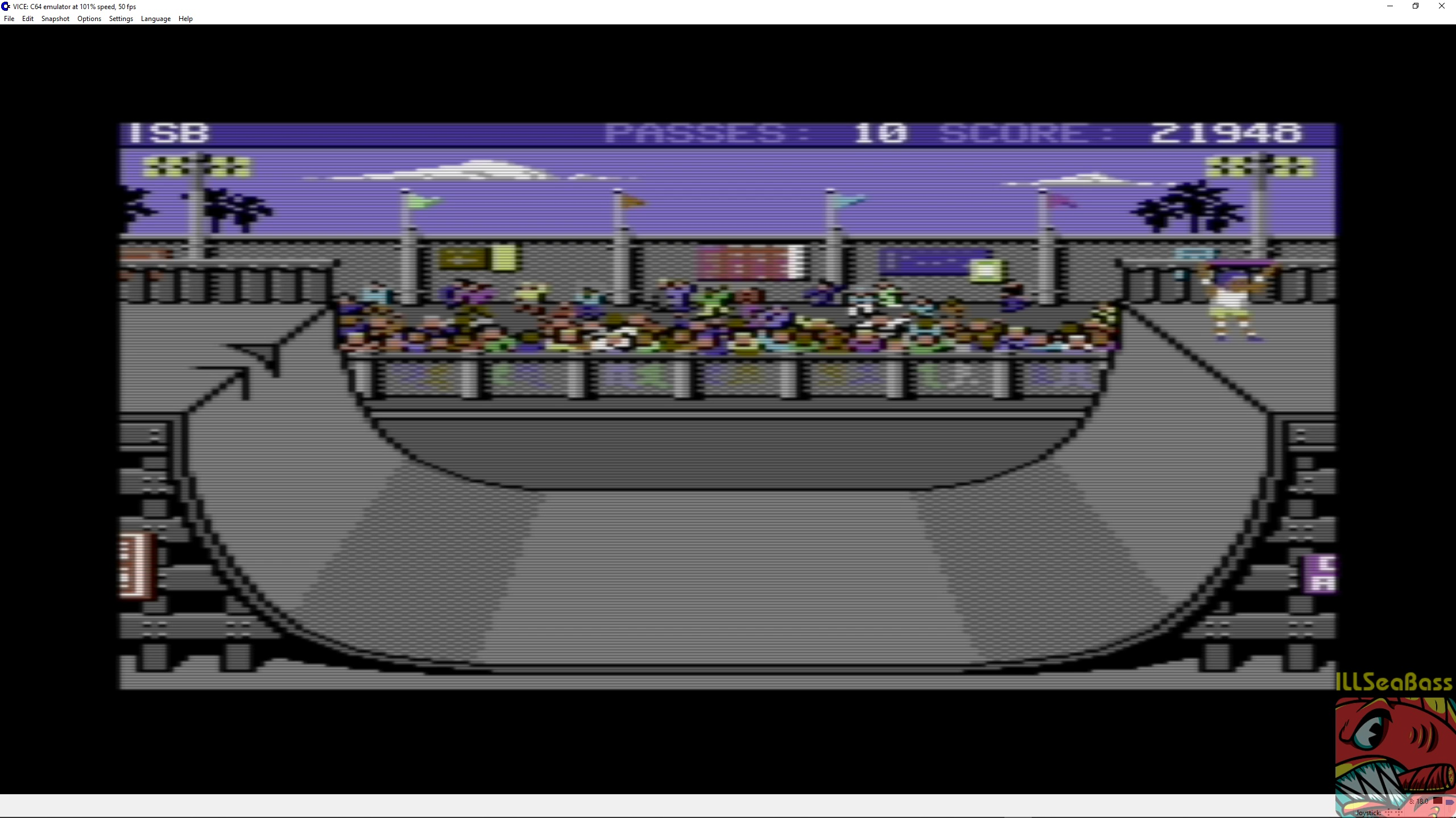 ILLSeaBass: Skate or Die [Ramp Freestyle] (Commodore 64 Emulated) 21,948 points on 2018-05-11 07:49:07