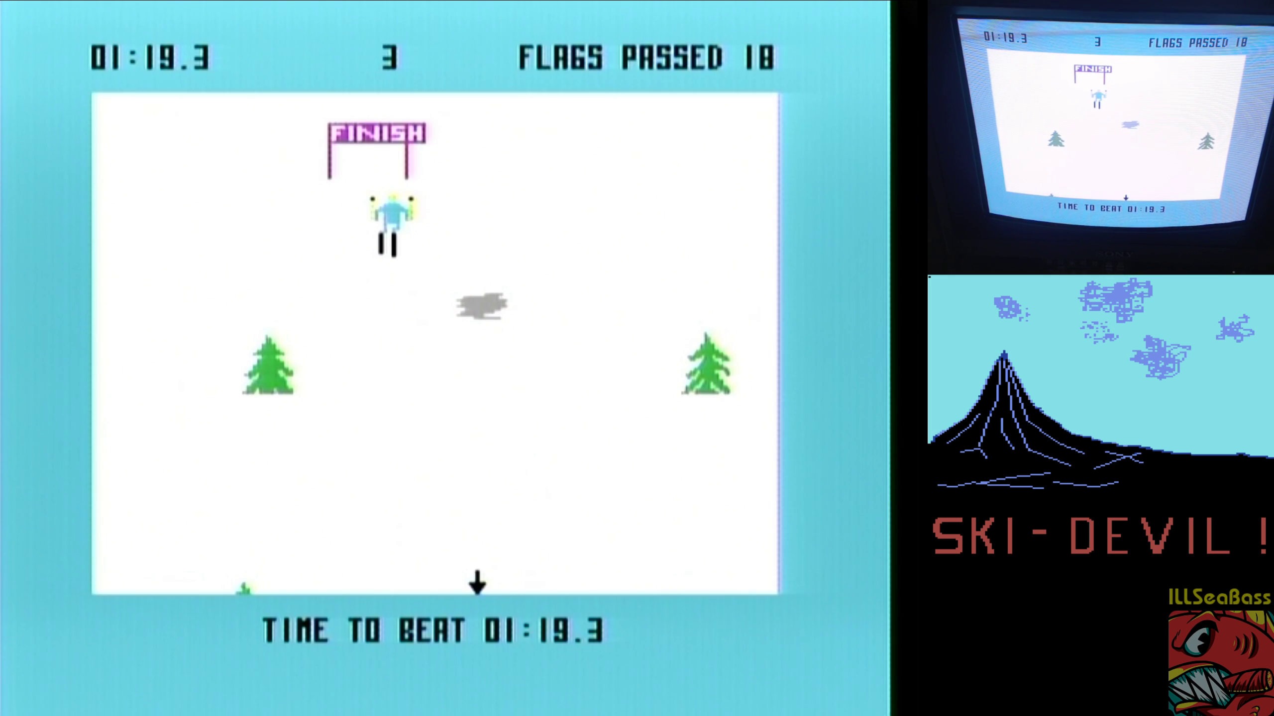 ILLSeaBass: Ski Devil [Course 3] (Commodore 64) 0:01:19.3 points on 2018-11-11 19:46:31