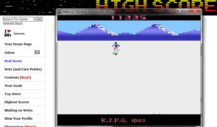 Giorvam: Ski Hunt (Atari 2600 Emulated) 11,225 points on 2016-10-23 05:40:12