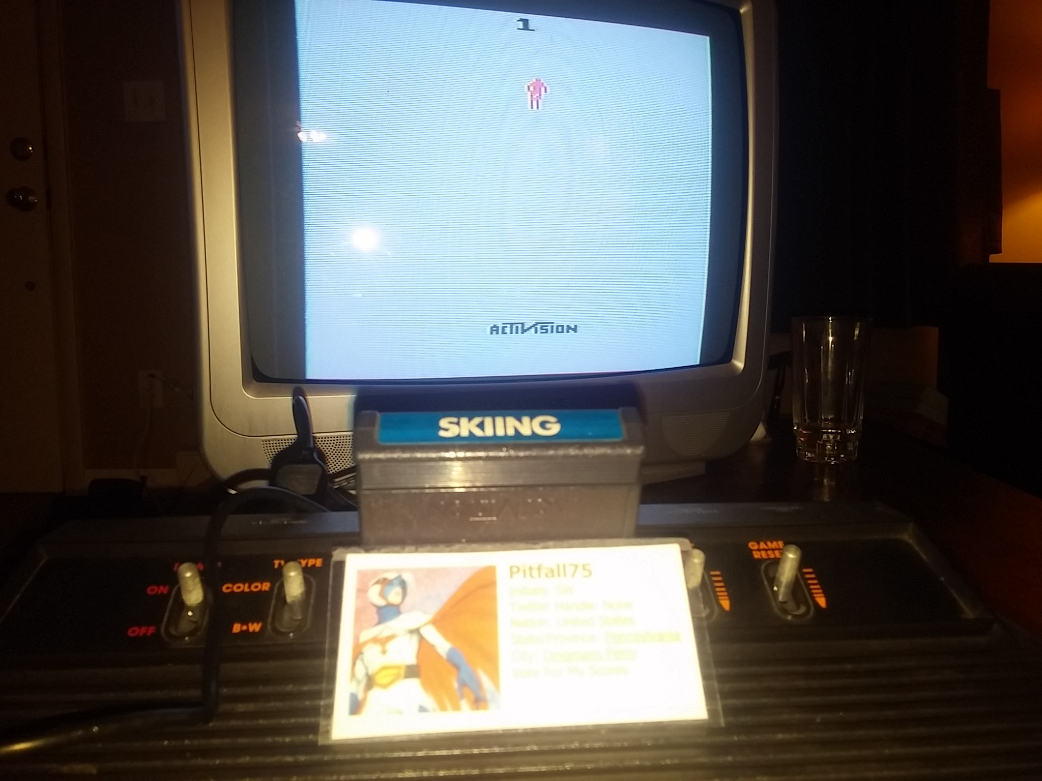 Pitfall75: Skiing: Game 1 (Atari 2600 Novice/B) 0:00:34.43 points on 2018-01-21 18:16:07