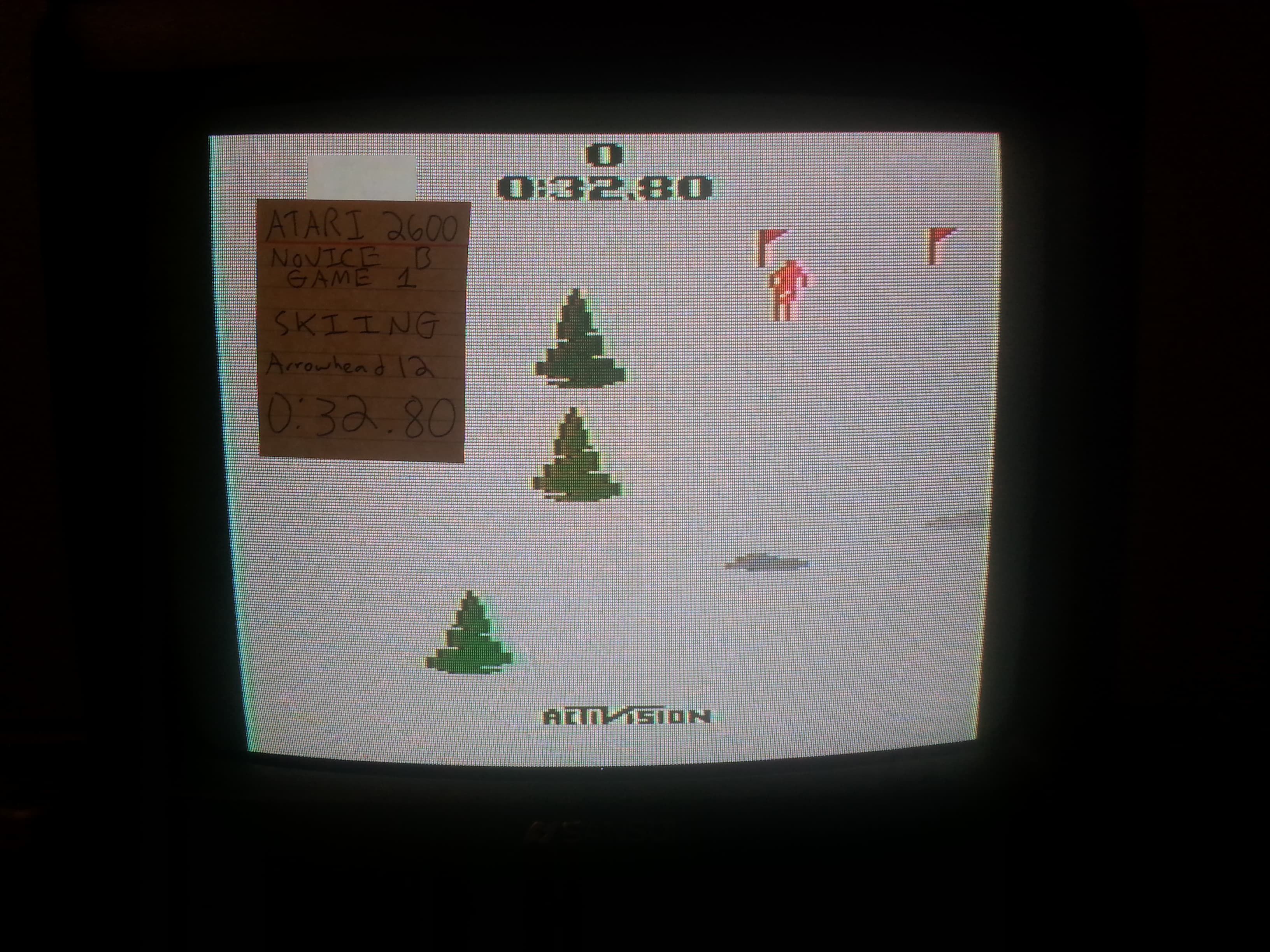 Arrowhead12: Skiing: Game 1 (Atari 2600 Novice/B) 0:00:32.8 points on 2018-09-30 02:41:15