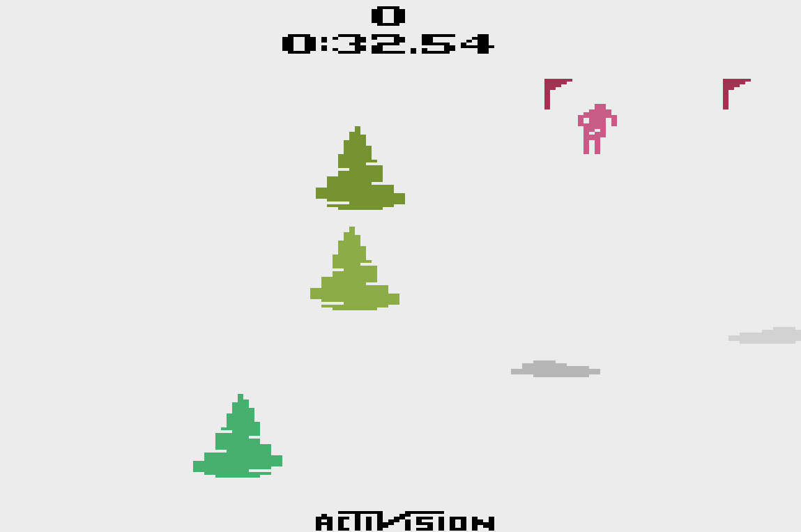 Skiing: Game 1 time of 0:00:32.54
