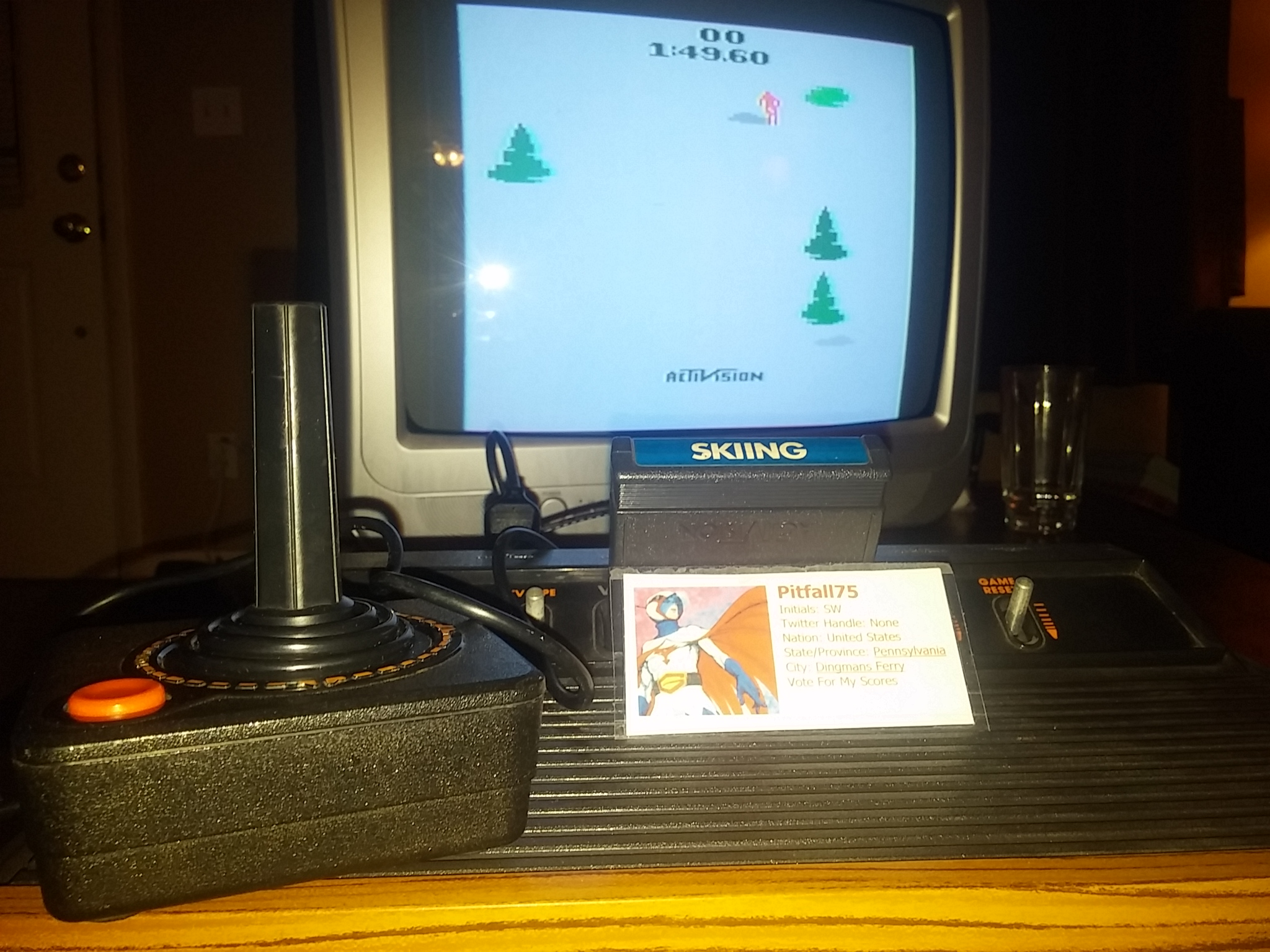 Pitfall75: Skiing: Game 10 (Atari 2600 Novice/B) 0:01:49.6 points on 2018-01-21 18:18:57