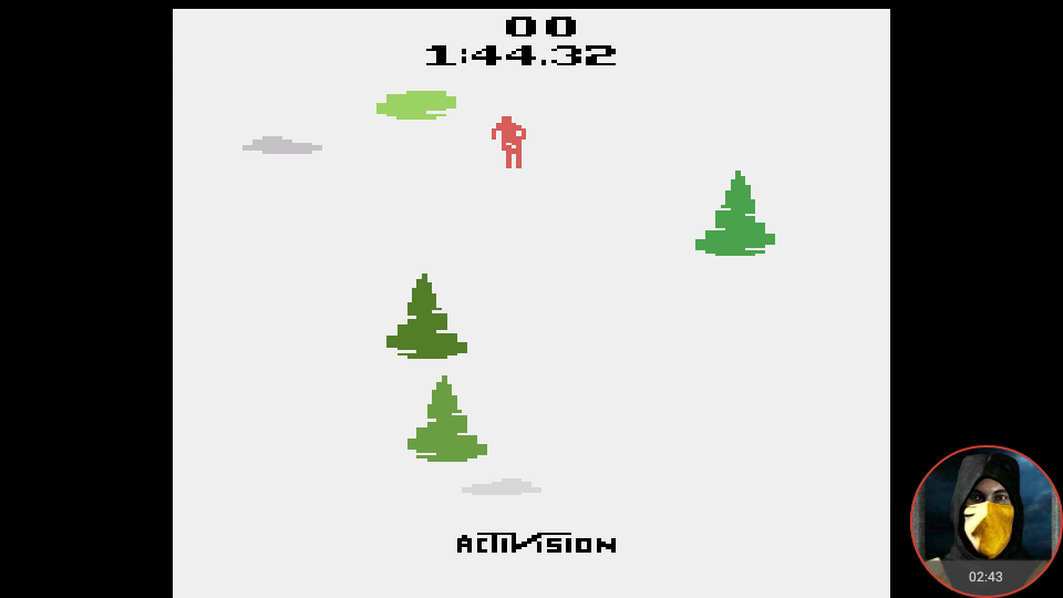 omargeddon: Skiing: Game 10 (Atari 2600 Emulated Novice/B Mode) 0:01:44.32 points on 2018-05-21 18:13:40
