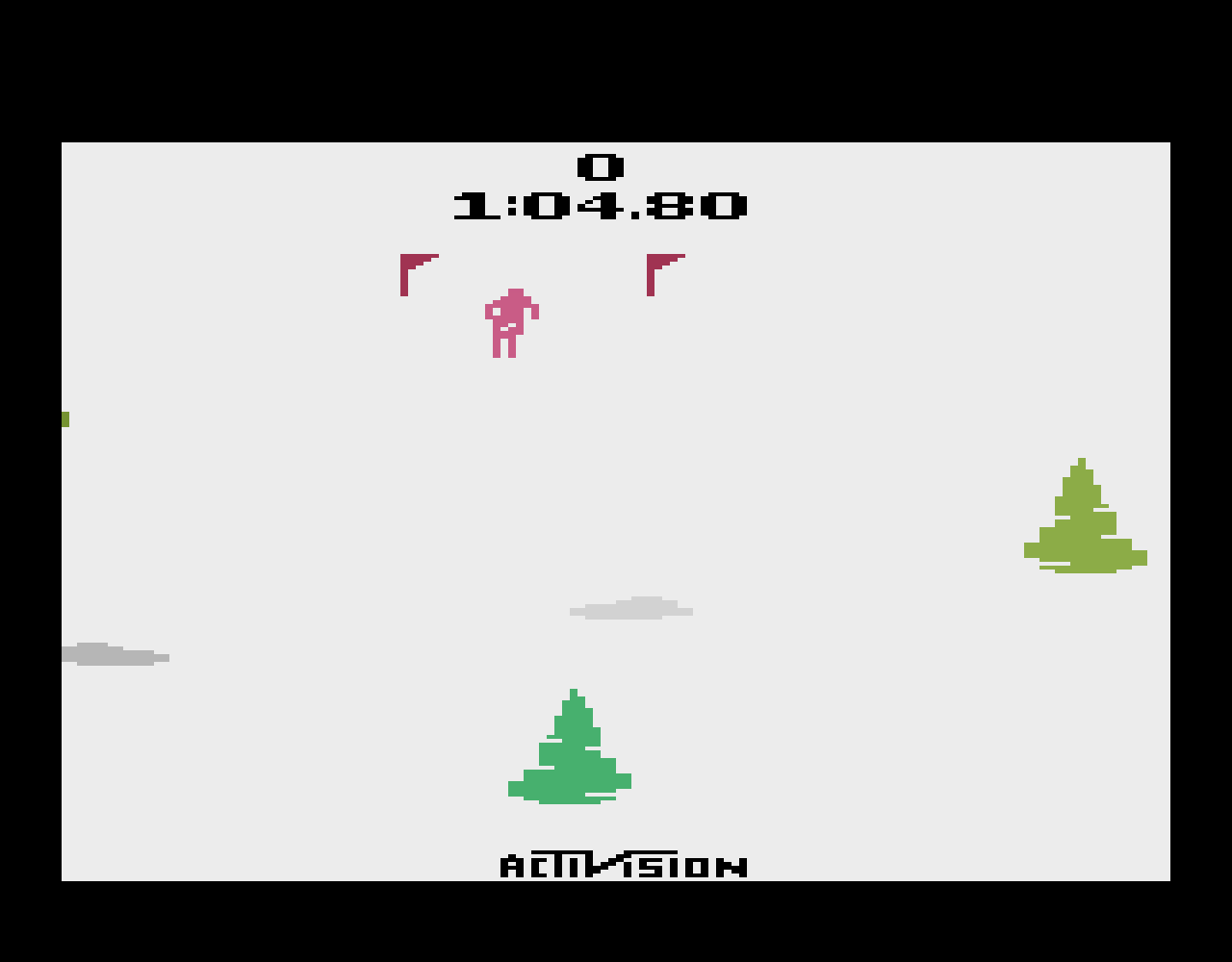 TheTrickster: Skiing: Game 2 (Atari 2600 Emulated Novice/B Mode) 0:01:04.8 points on 2016-07-09 23:48:11