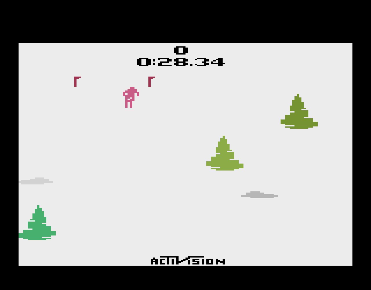 TheTrickster: Skiing: Game 3 (Atari 2600 Emulated Novice/B Mode) 0:00:28.34 points on 2016-07-09 23:51:11