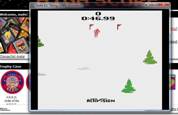 nads: Skiing: Game 4 (Atari 2600 Emulated Novice/B Mode) 0:00:46.99 points on 2015-11-26 22:27:27