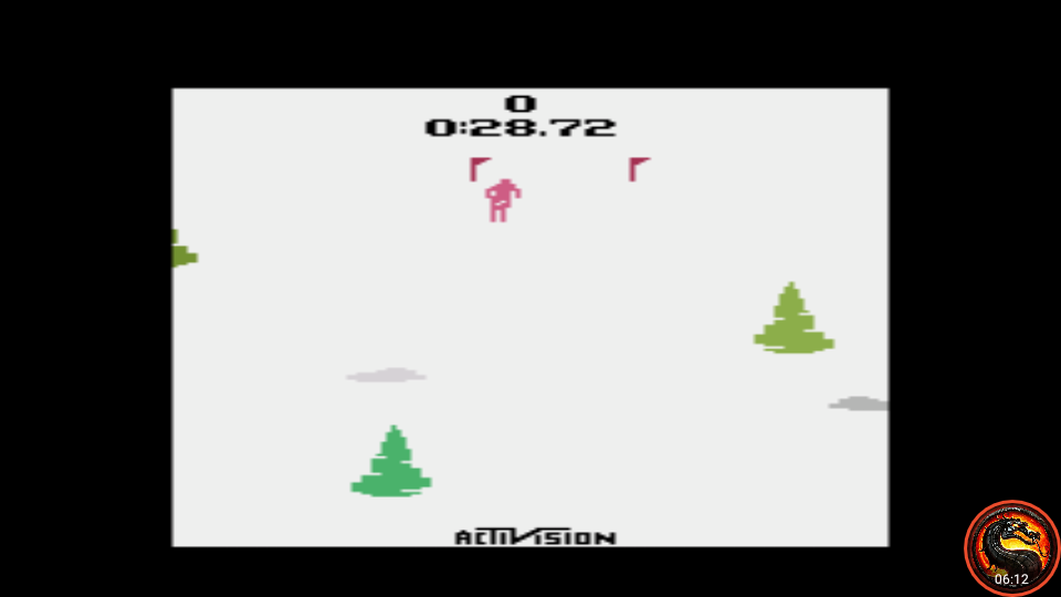 omargeddon: Skiing: Game 5 (Atari 2600 Emulated Novice/B Mode) 0:00:28.72 points on 2021-04-01 02:42:15