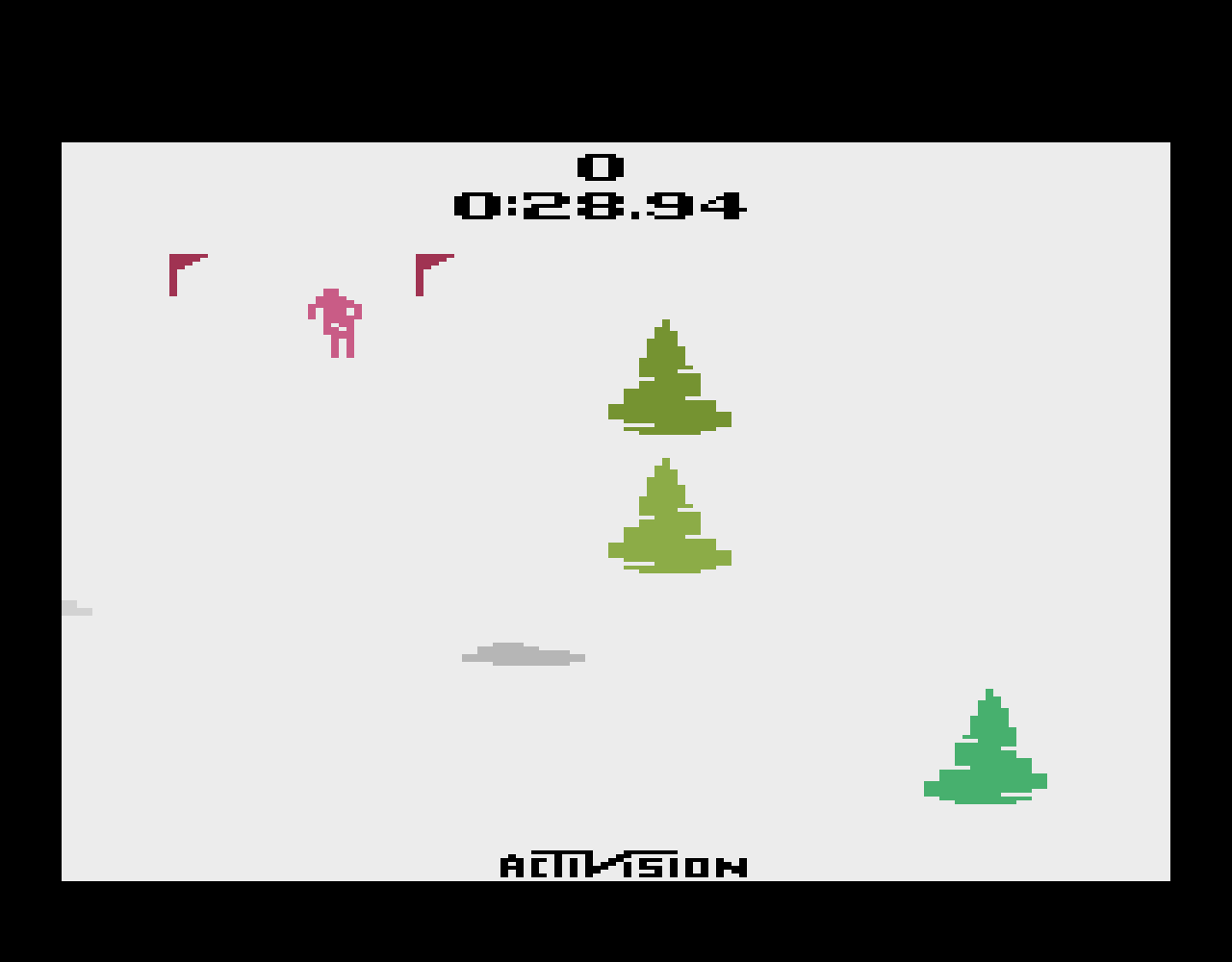 TheTrickster: Skiing: Game 5 (Atari 2600 Emulated Novice/B Mode) 0:00:28.94 points on 2016-07-09 23:55:20