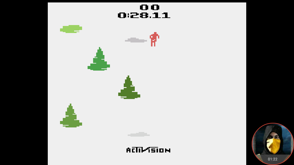 omargeddon: Skiing: Game 6 (Atari 2600 Emulated Novice/B Mode) 0:00:28.11 points on 2018-02-15 15:46:46