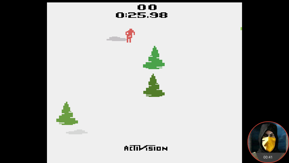 omargeddon: Skiing: Game 7 (Atari 2600 Emulated Novice/B Mode) 0:00:25.98 points on 2018-02-15 15:48:15