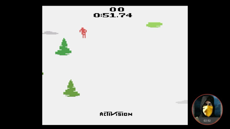 omargeddon: Skiing: Game 8 (Atari 2600 Emulated Novice/B Mode) 0:00:51.74 points on 2018-02-15 16:38:22