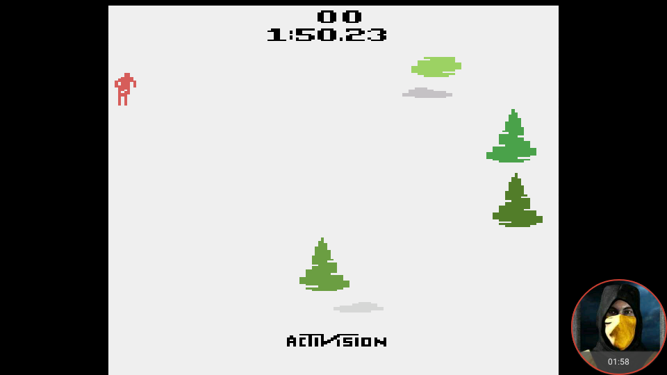 omargeddon: Skiing: Game 9 (Atari 2600 Emulated Novice/B Mode) 0:01:50.23 points on 2018-02-15 20:55:23