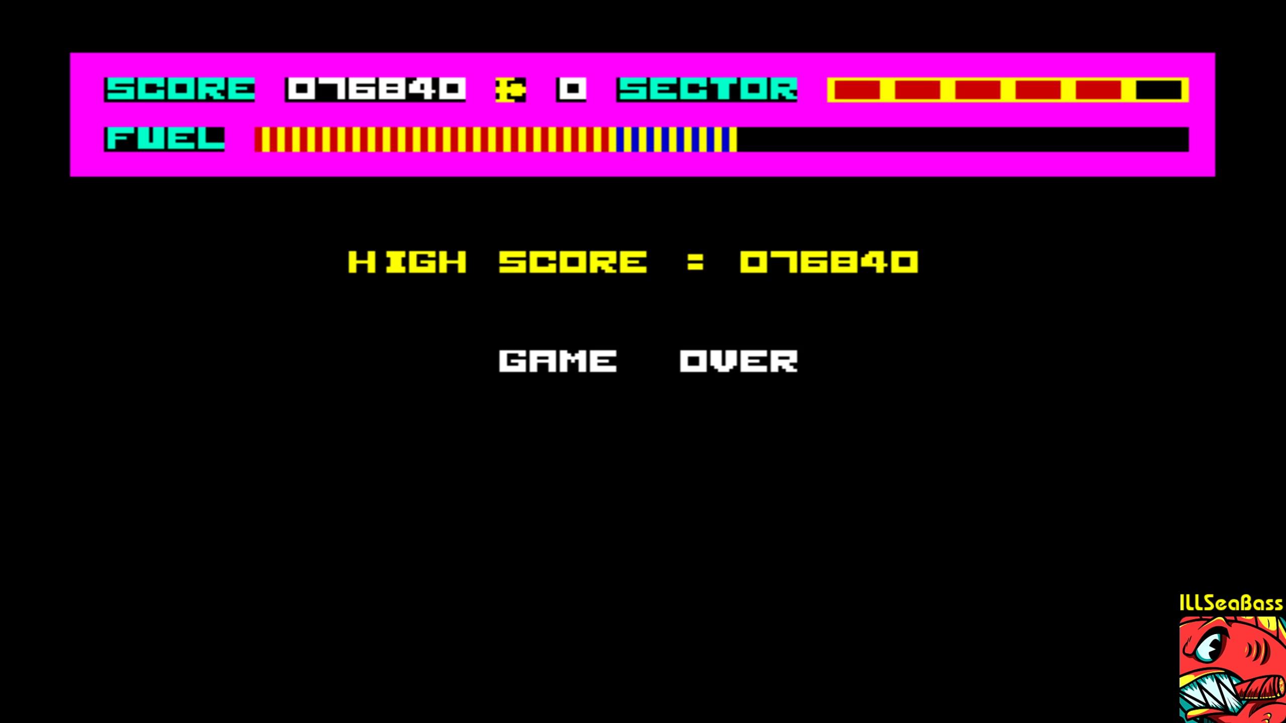 ILLSeaBass: Skramble [Anirog Software] (Commodore 64 Emulated) 76,840 points on 2018-02-13 09:07:41