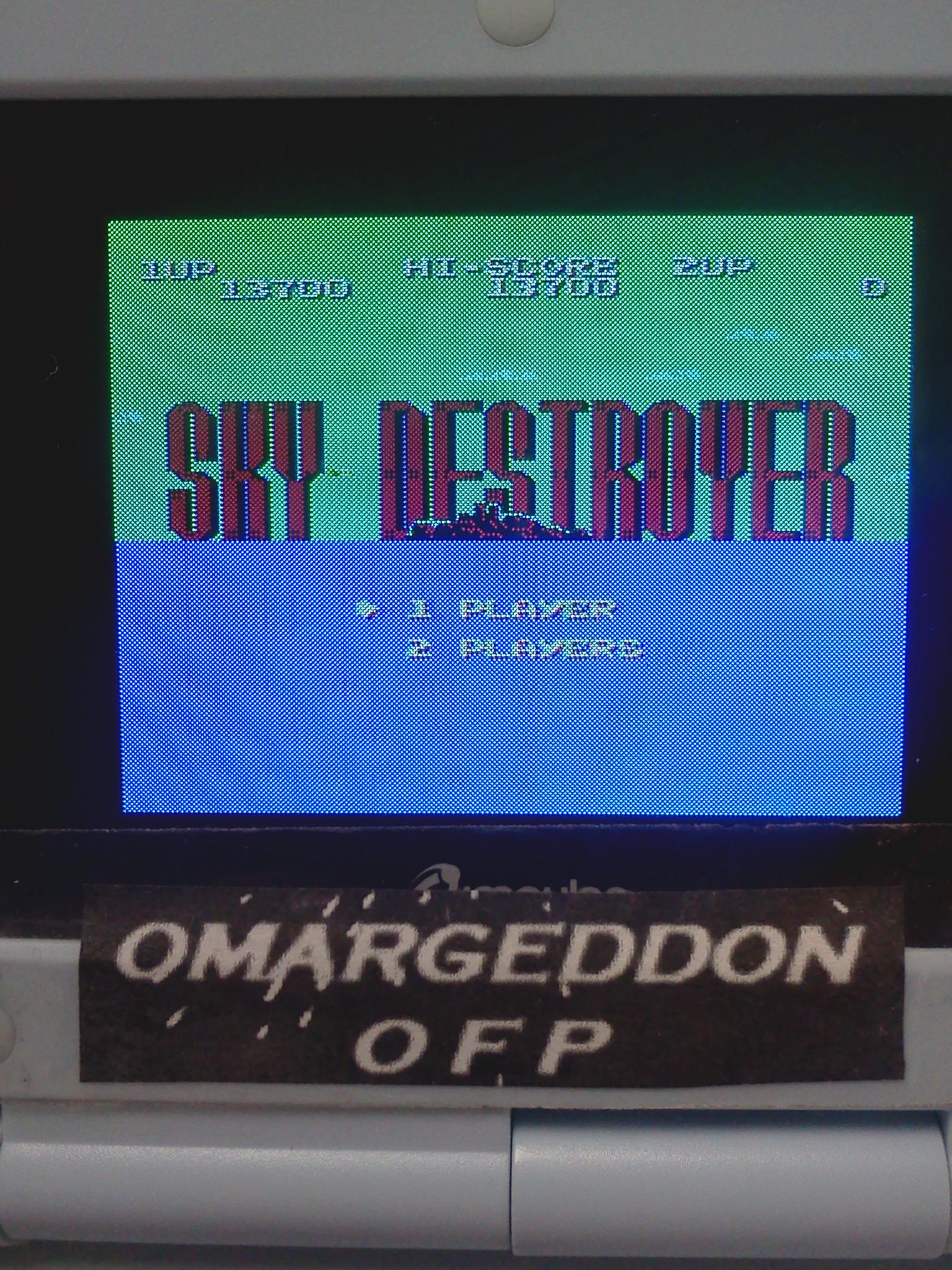 omargeddon: Sky Destroyer (NES/Famicom Emulated) 13,700 points on 2016-07-28 20:19:05