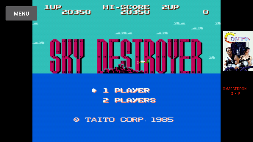 omargeddon: Sky Destroyer (NES/Famicom Emulated) 20,350 points on 2017-07-09 11:17:20