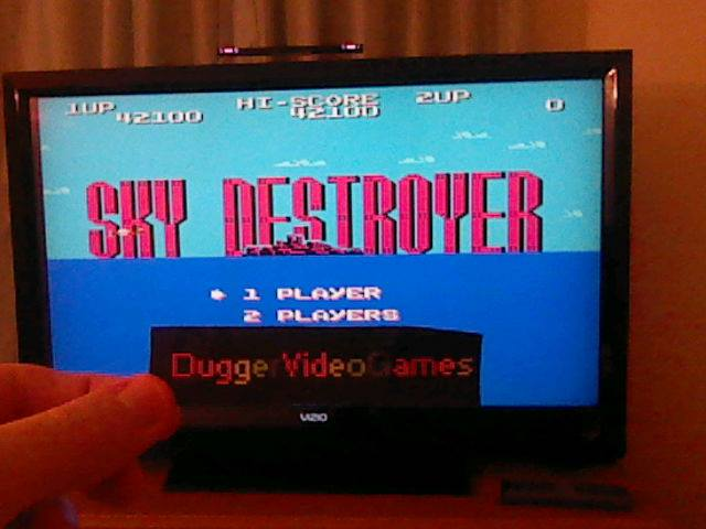 DuggerVideoGames: Sky Destroyer (NES/Famicom Emulated) 42,100 points on 2017-07-10 01:56:15