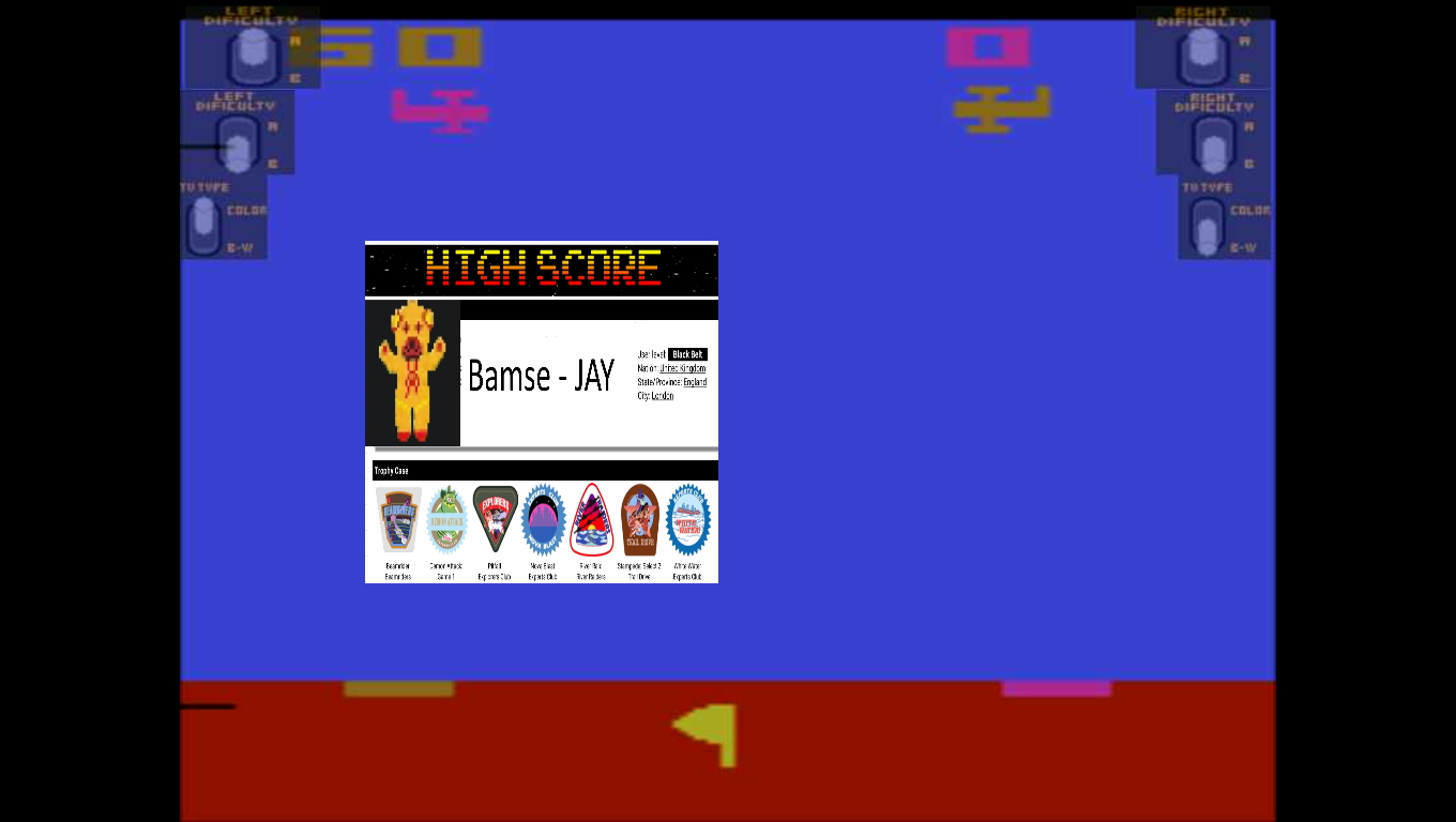 Bamse: Sky Diver (Atari 2600 Emulated Expert/A Mode) 60 points on 2019-11-21 17:49:42