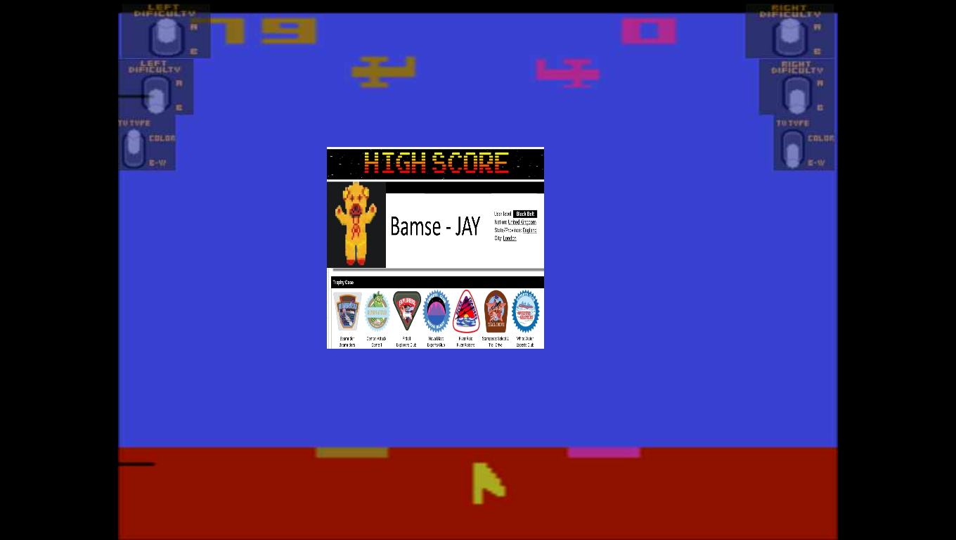 Bamse: Sky Diver (Atari 2600 Emulated Novice/B Mode) 79 points on 2019-11-21 17:50:25