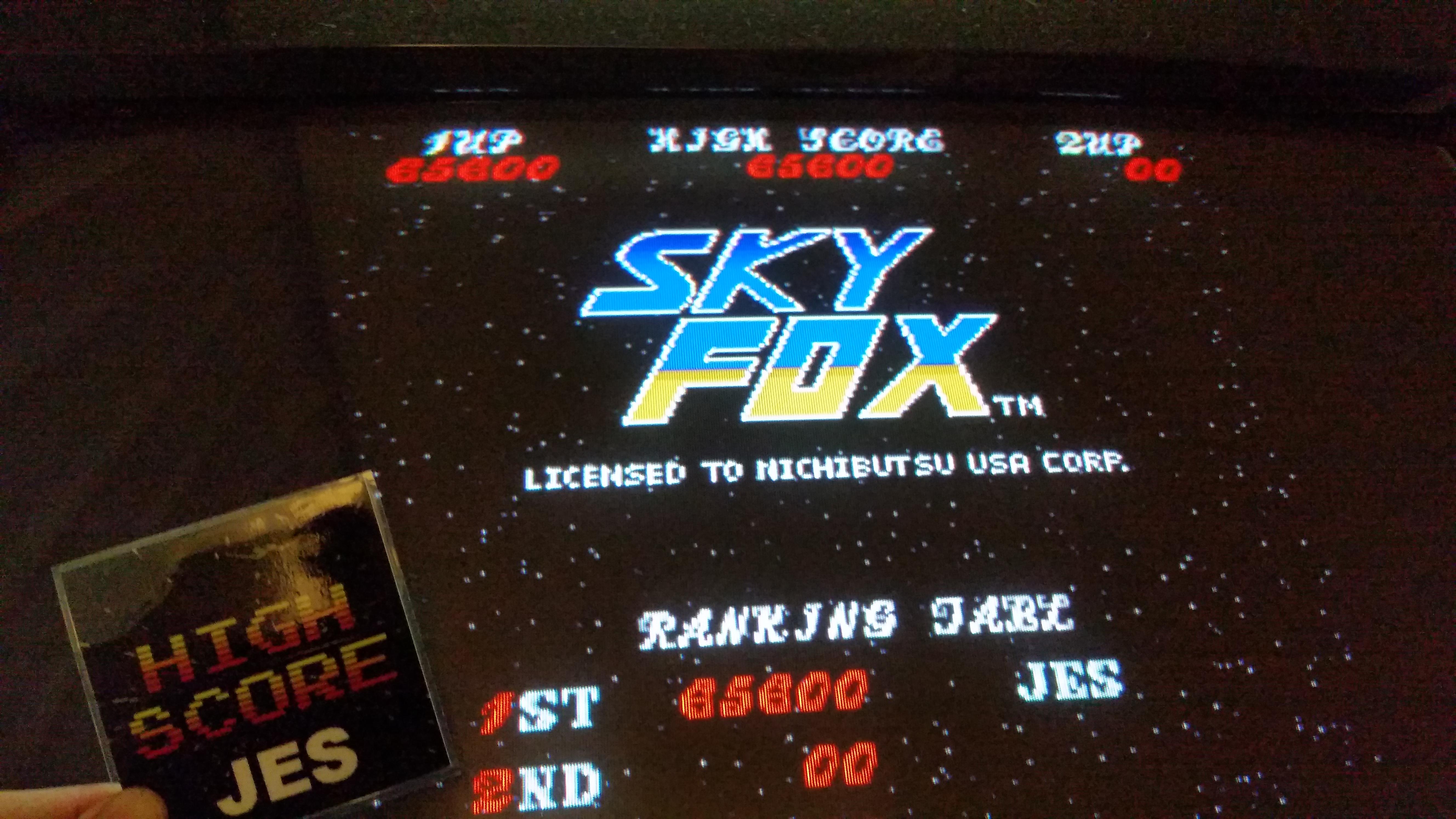Sky Fox [skyfox] 65,600 points