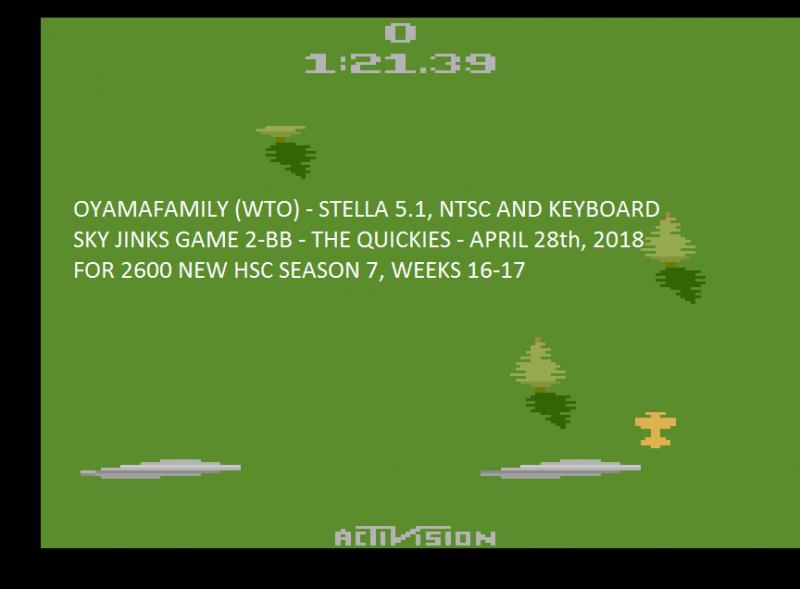 oyamafamily: Sky Jinks: Game 2 (Atari 2600 Emulated Novice/B Mode) 0:01:21.39 points on 2020-04-05 13:35:26