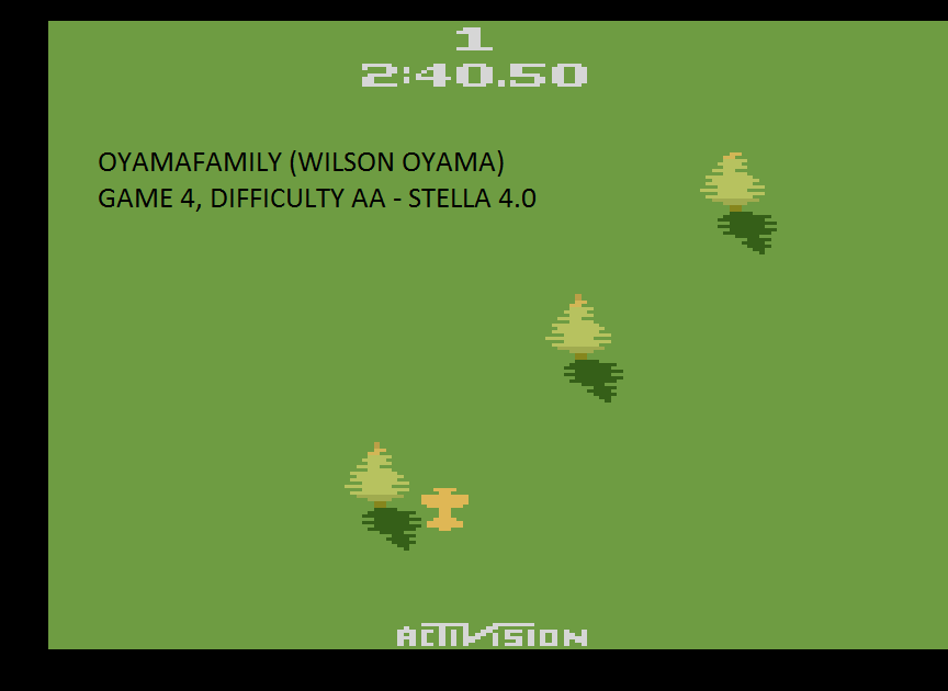 oyamafamily: Sky Jinks: Game 4 (Atari 2600 Emulated Expert/A Mode) 0:02:40.5 points on 2015-07-22 20:54:43