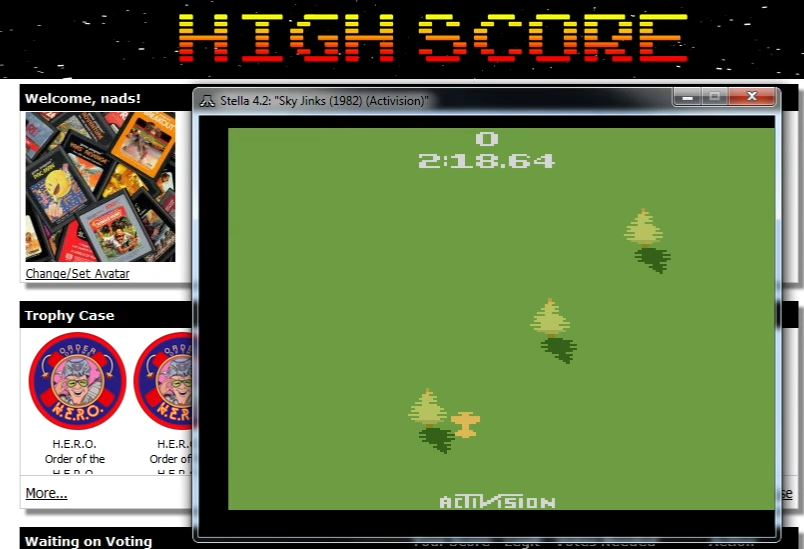 nads: Sky Jinks: Game 4 (Atari 2600 Emulated Novice/B Mode) 0:02:18.64 points on 2015-11-22 04:40:30