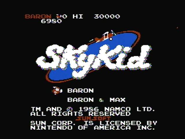 derek: Sky Kid: Baron (NES/Famicom) 6,980 points on 2016-04-04 20:57:40