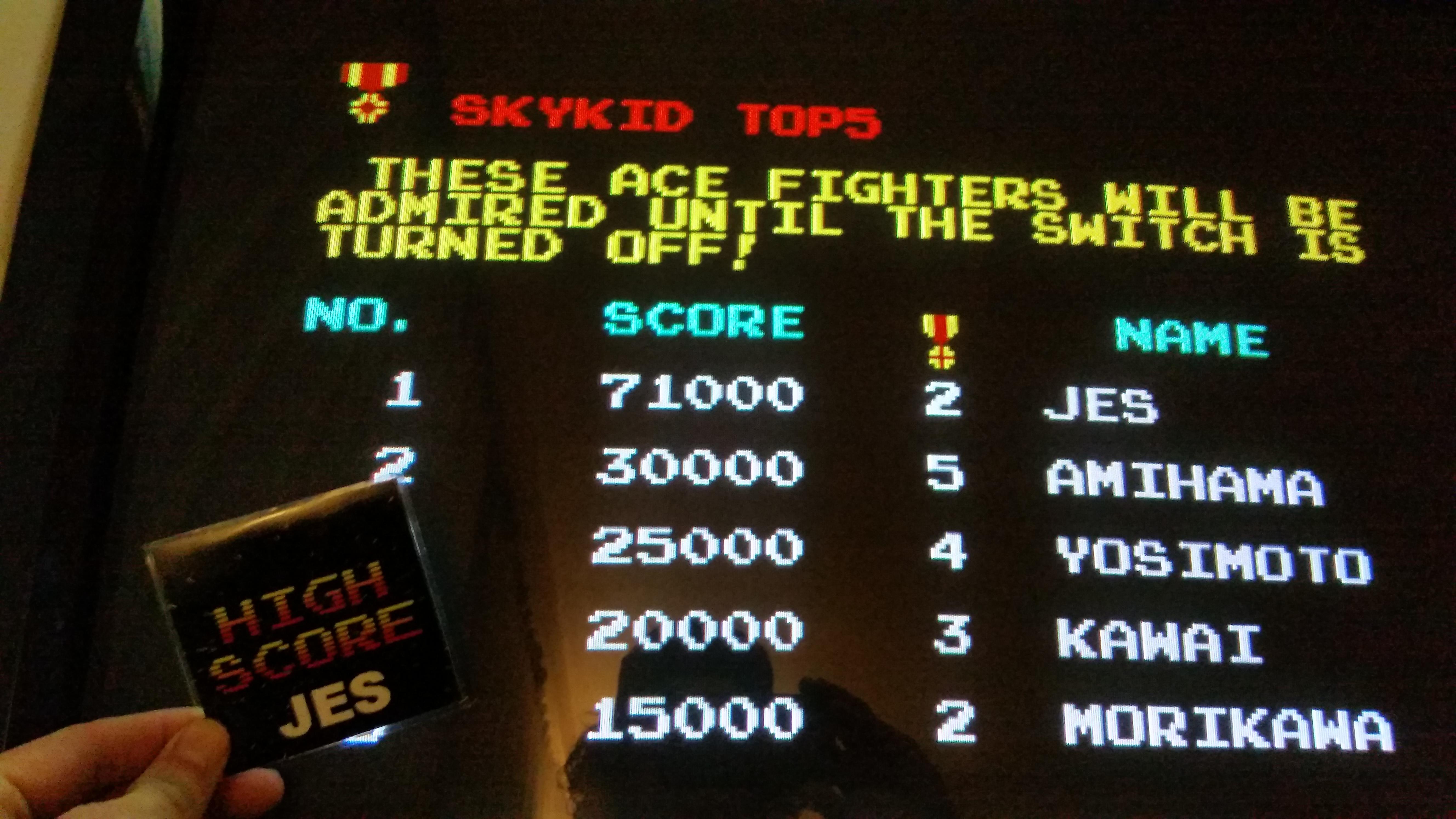 Sky Kid [skykid] 71,000 points