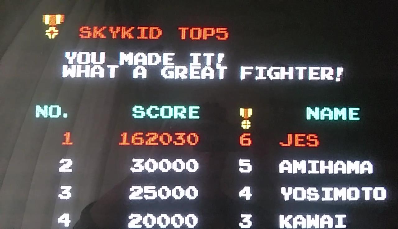 JES: Sky Kid [skykid] (Arcade Emulated / M.A.M.E.) 162,030 points on 2017-04-17 14:30:48