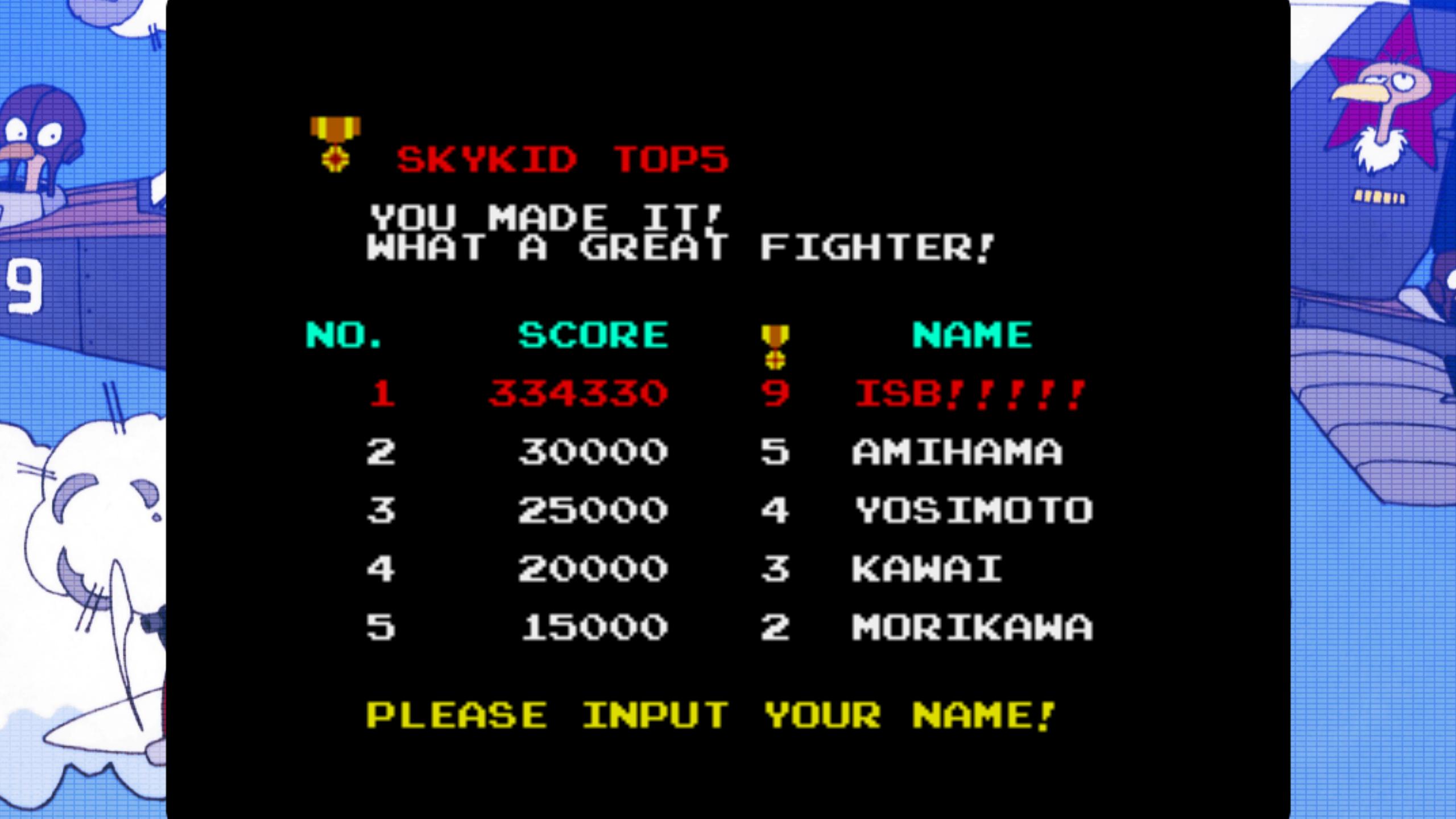 Sky Kid [skykid] 334,330 points