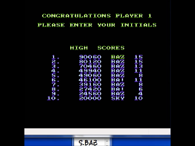 S.BAZ: Sky Shark (NES/Famicom Emulated) 90,060 points on 2017-03-19 23:18:52
