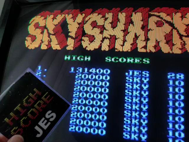 JES: Sky Shark (NES/Famicom Emulated) 131,400 points on 2018-05-25 20:13:38