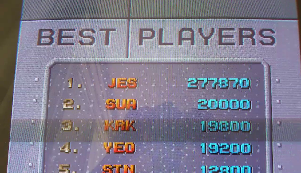 JES: Sky Smasher (Arcade Emulated / M.A.M.E.) 277,870 points on 2017-04-21 18:27:39