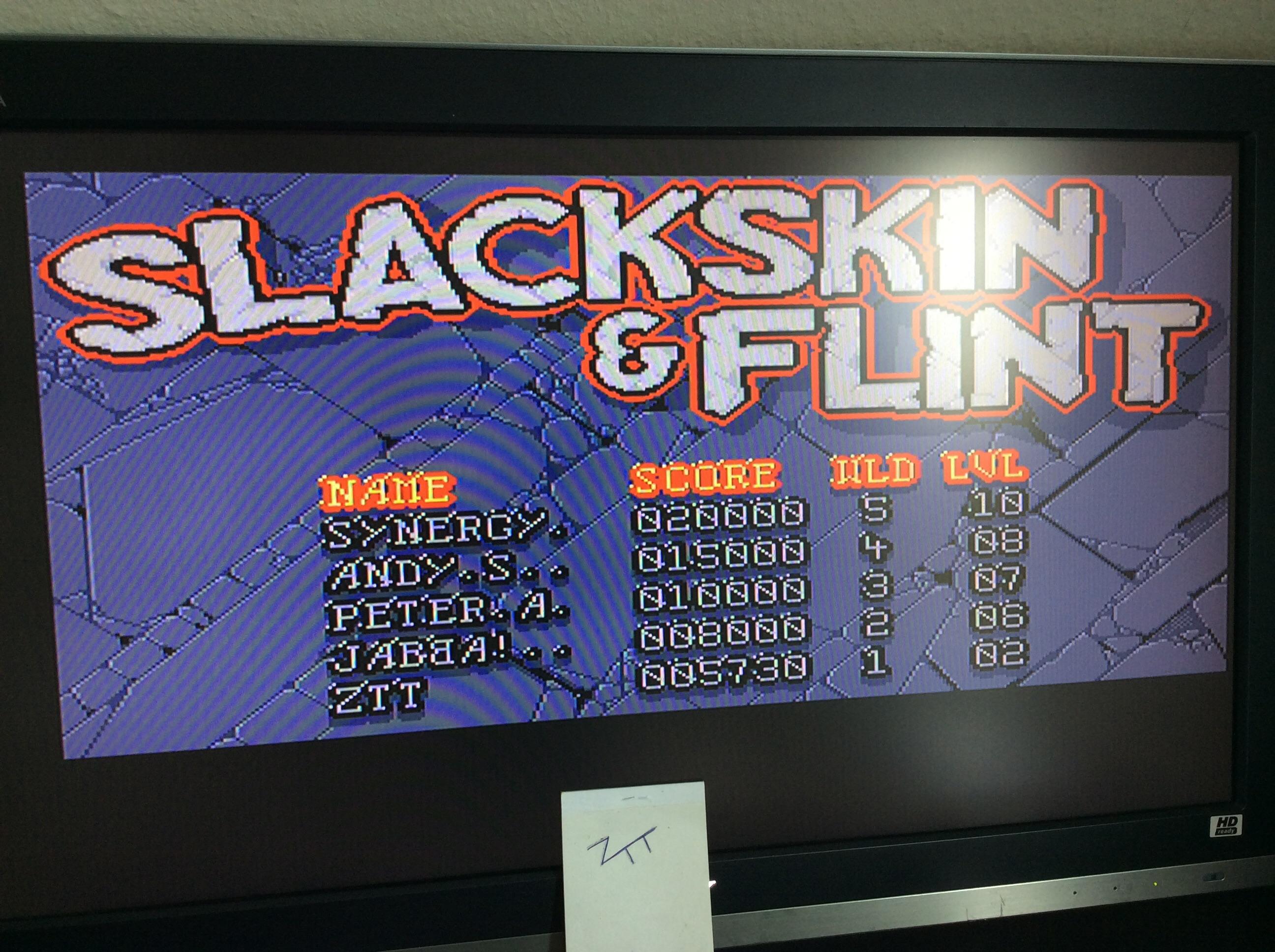 Frankie: Slackskin & Flint (Amiga) 5,730 points on 2016-10-29 06:21:25