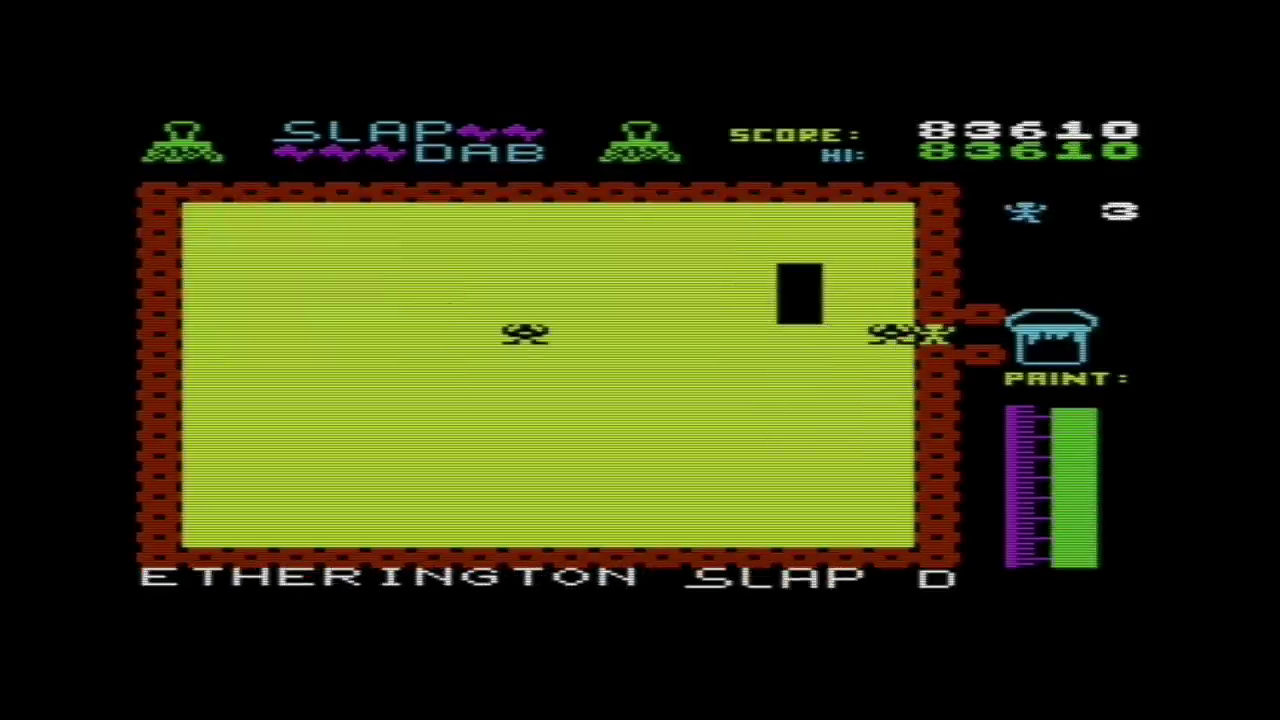 GTibel: Slap Dab (Commodore VIC-20 Emulated) 83,610 points on 2017-05-28 04:21:37