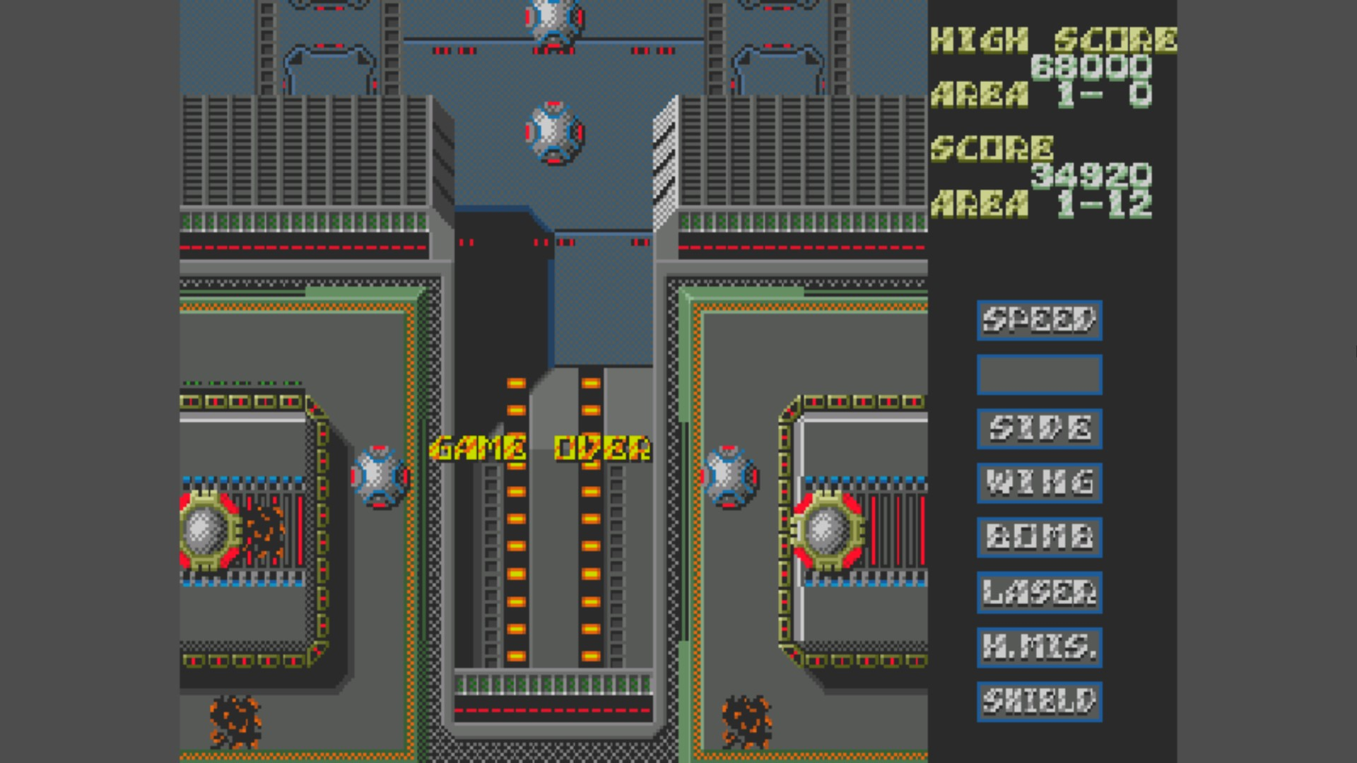 AkinNahtanoj: Slap Fight [Type Special] [Hard] (Sega Genesis / MegaDrive Emulated) 34,920 points on 2020-10-26 15:09:04