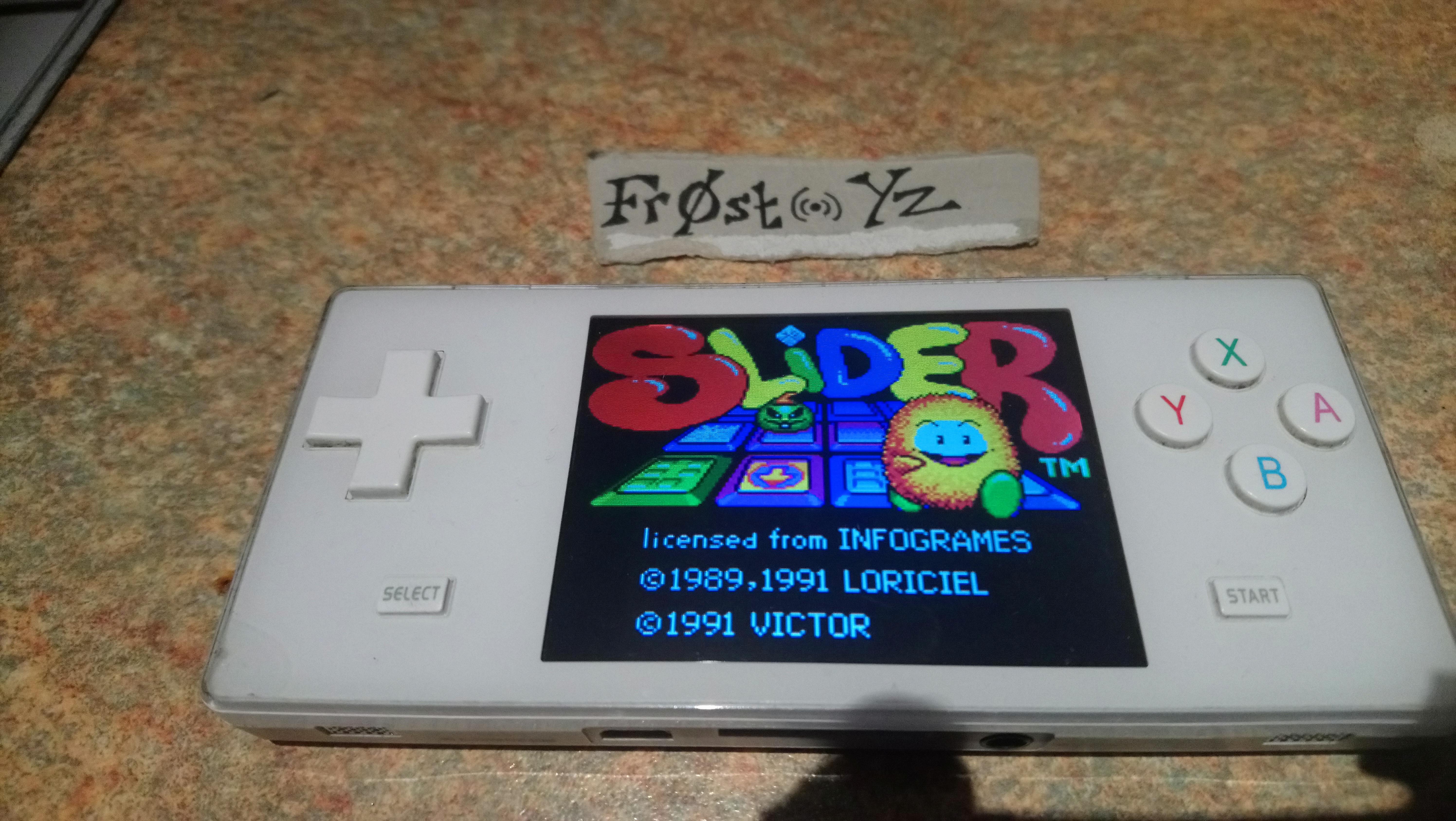 Fr0st: Slider (Sega Game Gear Emulated) 100,480 points on 2019-01-21 16:58:52