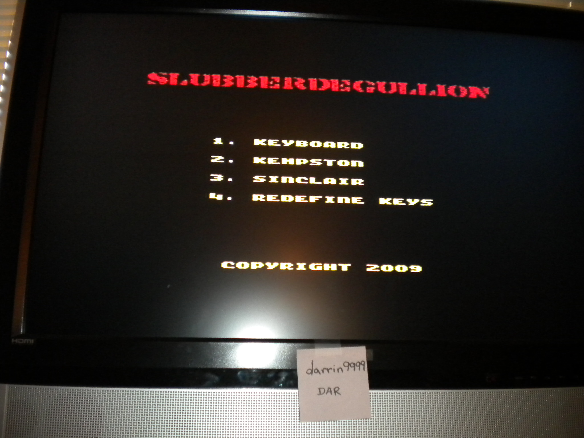 darrin9999: Slubberdegullion [100,000 Points Completion Bonus] (ZX Spectrum Emulated) 1,575 points on 2016-11-13 07:50:48