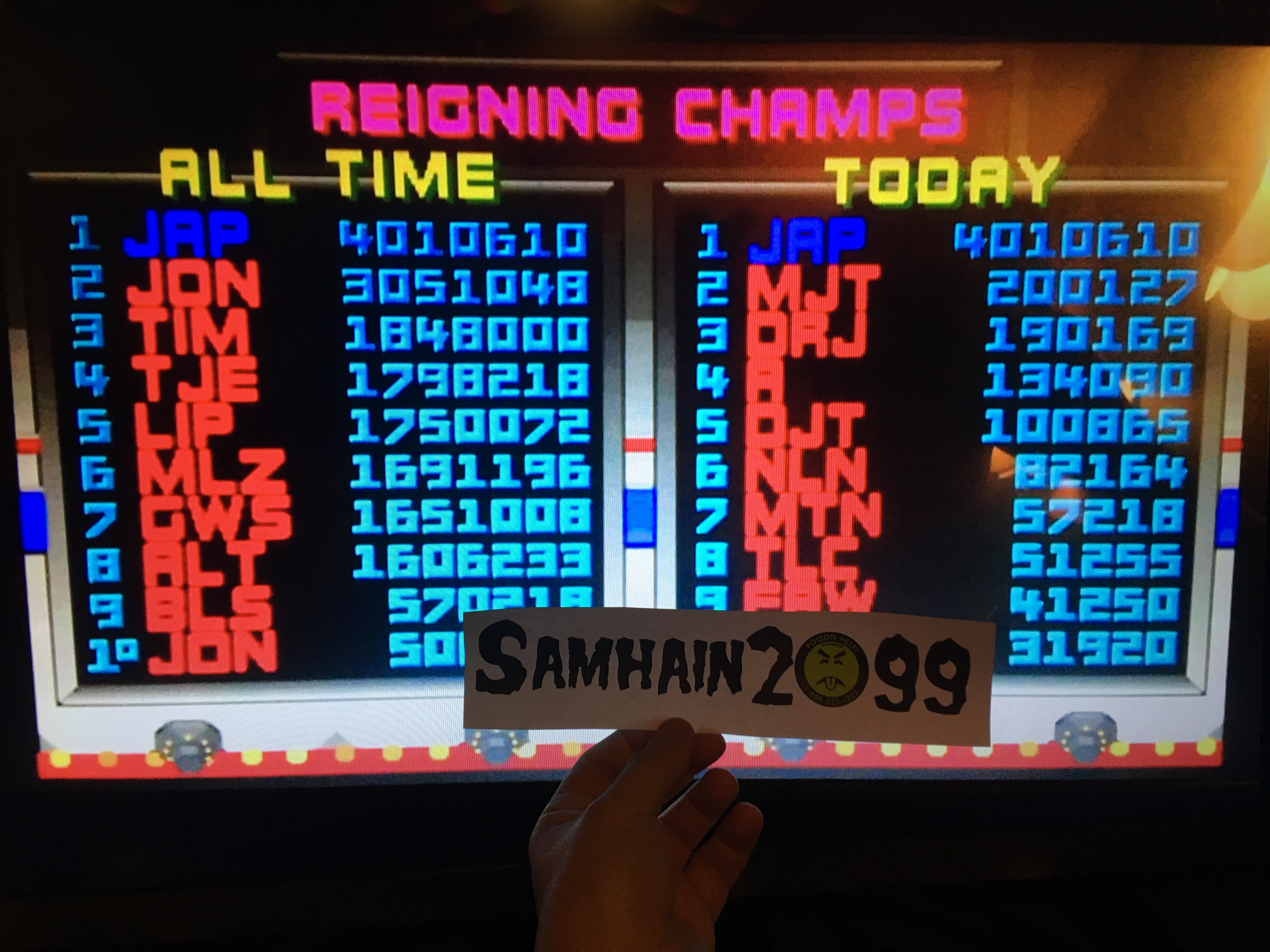 Samhain2099: Smash TV (Arcade Emulated / M.A.M.E.) 4,010,610 points on 2017-01-27 22:47:28