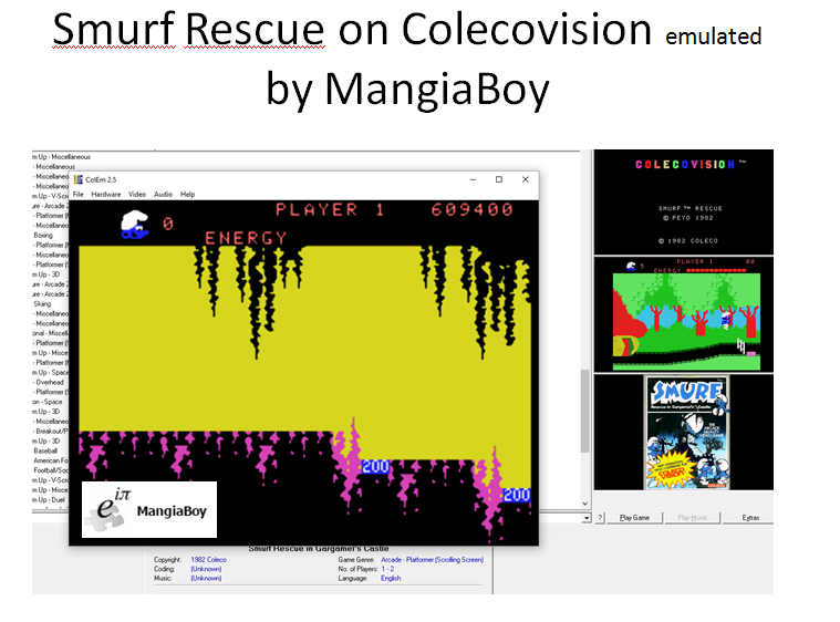 MangiaBoy: Smurf: Rescue in Gargamel