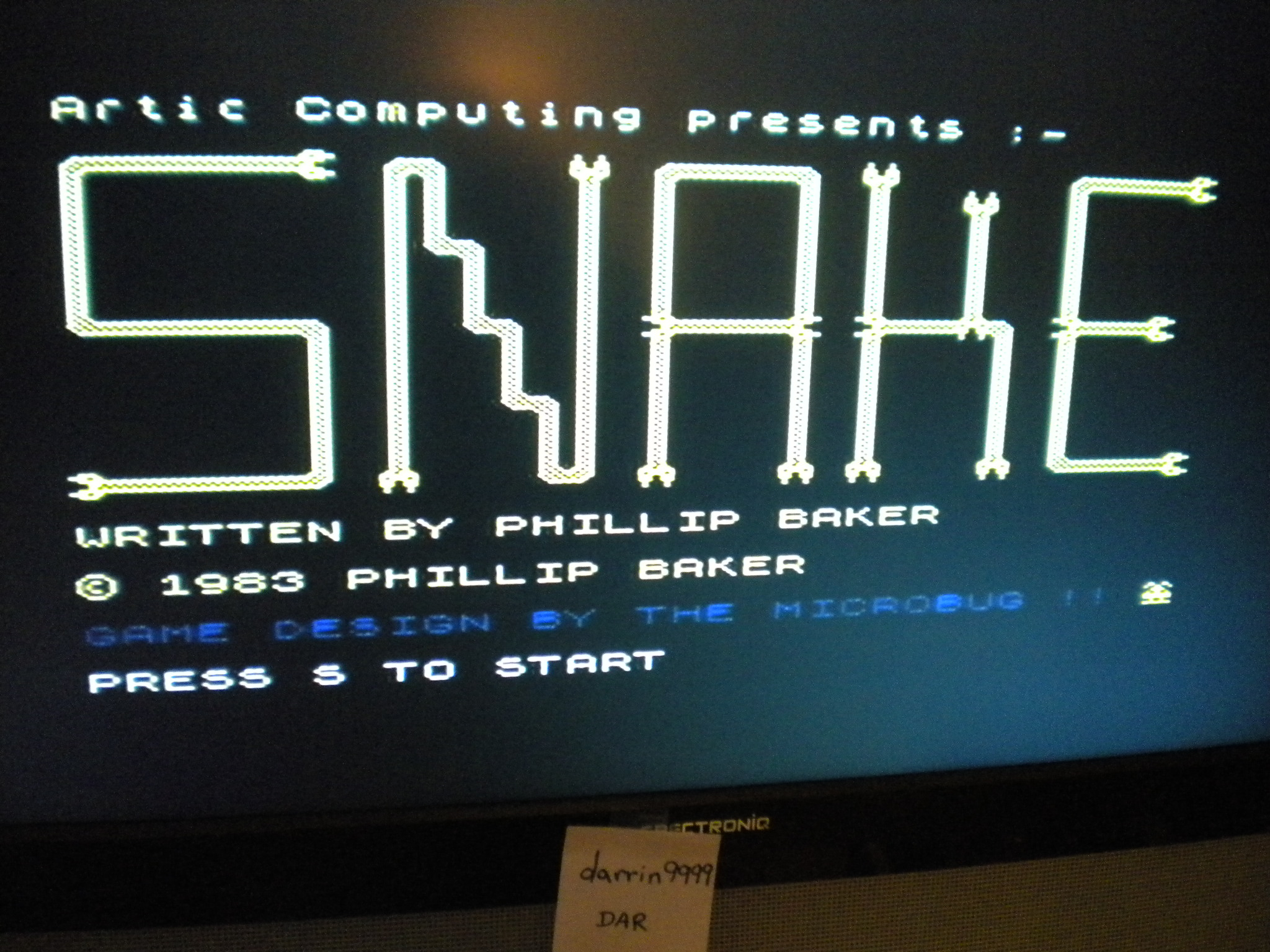 darrin9999: Snake [Artic Computing] (ZX Spectrum Emulated) 190 points on 2016-12-19 22:32:33