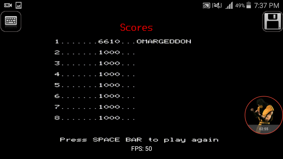 omargeddon: Snapper (BBC Micro Emulated) 6,610 points on 2017-12-23 19:38:37